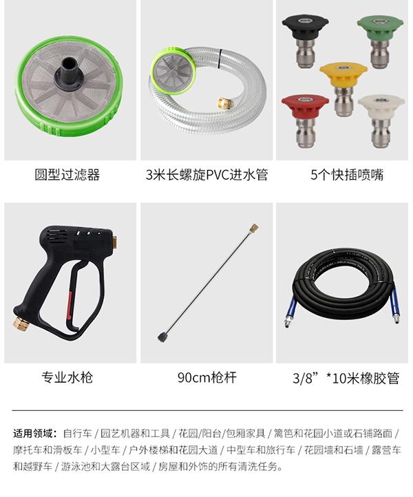 高压清洗机配件展示