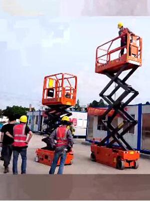 剪刀车出租应用于厂房建设工程