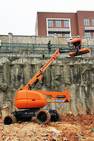 曲臂登高车出租应用于市政工程