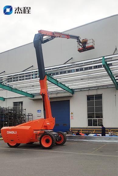 24米曲臂登高车出租应用于厂房建设