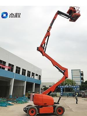 曲臂车出租应用于厂房建设工程
