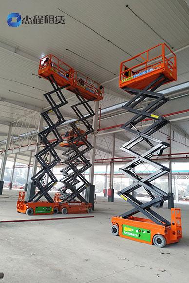 交流剪叉式升降车出租应用于厂房建设工程